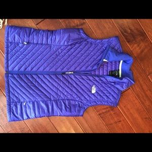 North Face purple down vest. Lightweight. Large